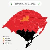 RS confirma primeiras bandeiras pretas no mapa definitivo da 32ª rodada