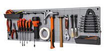 Organizador plástico de ferramentas para parede 50x31cm cada painel, Cinza