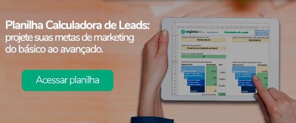 Banner - Planilha Calculadora de leads