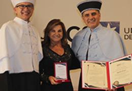 Marta Rossi é homenageada com Medalha Prefeito Hermes Webber