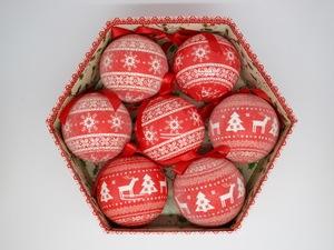 Bolas de Natal Cozi Christmas 7 Peças