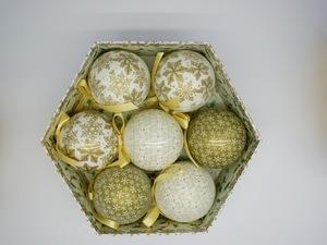 Bolas de Natal Gold Christmas 7 Peças