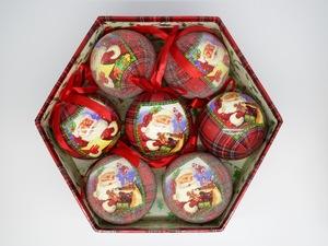 Bolas de Natal Victorian Christmas 7 Peças