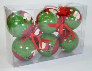 Bolas de Natal Papai Noel com Presente
