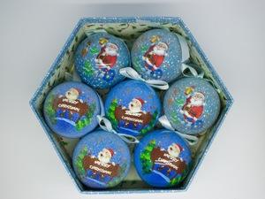 Bolas de Natal Blue Christmas 7 Peças