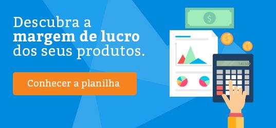 Banner - Planilha de cálculo de margem de lucro de produtos