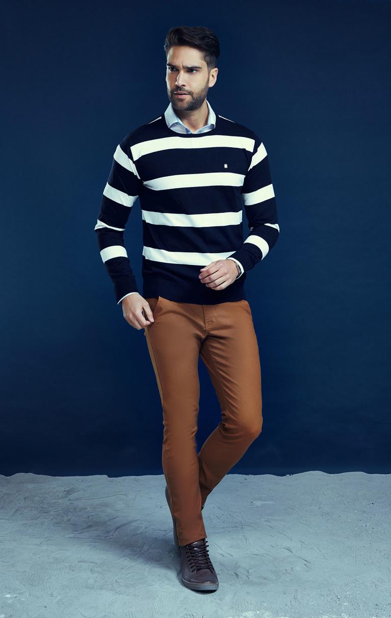 Suéter Elegance Listrado M.POLLO