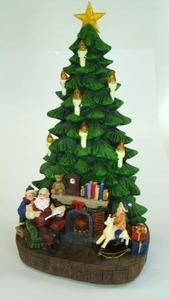 Caixa de Música pinheiro de Natal com iluminação e melodia