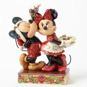Mickey e Minnie com azevinho