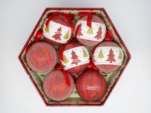 Bolas de Natal Classic Christmas 7 Peças