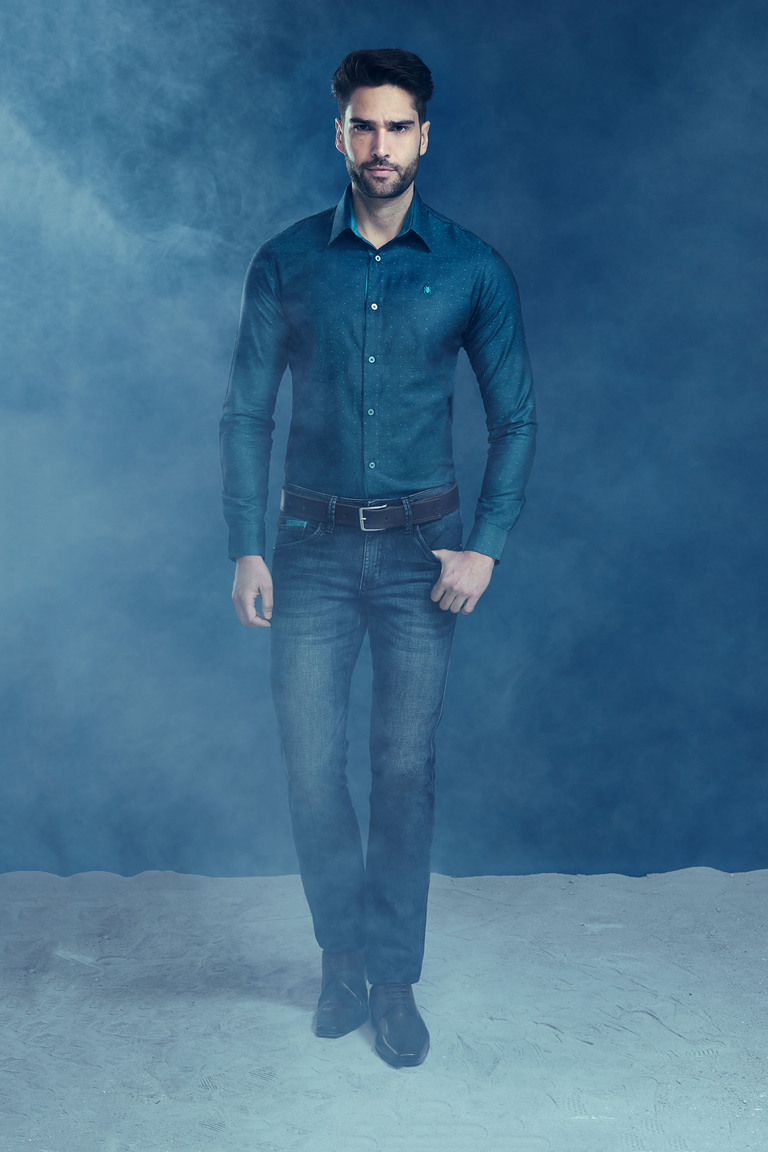 Camisa Elegance Azul M.Pollo